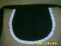 black pinny apron french maid sissy waitress bar new  adult baby catering 13x12