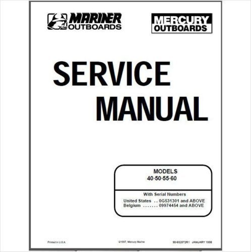 mercury 115 service manual pdf
