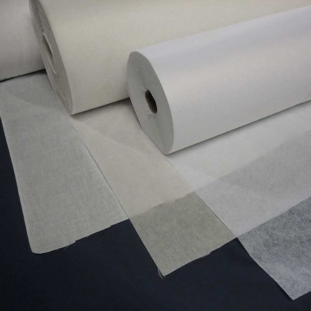 Interfacing Fabric Various Weights Sew On And Iron On
