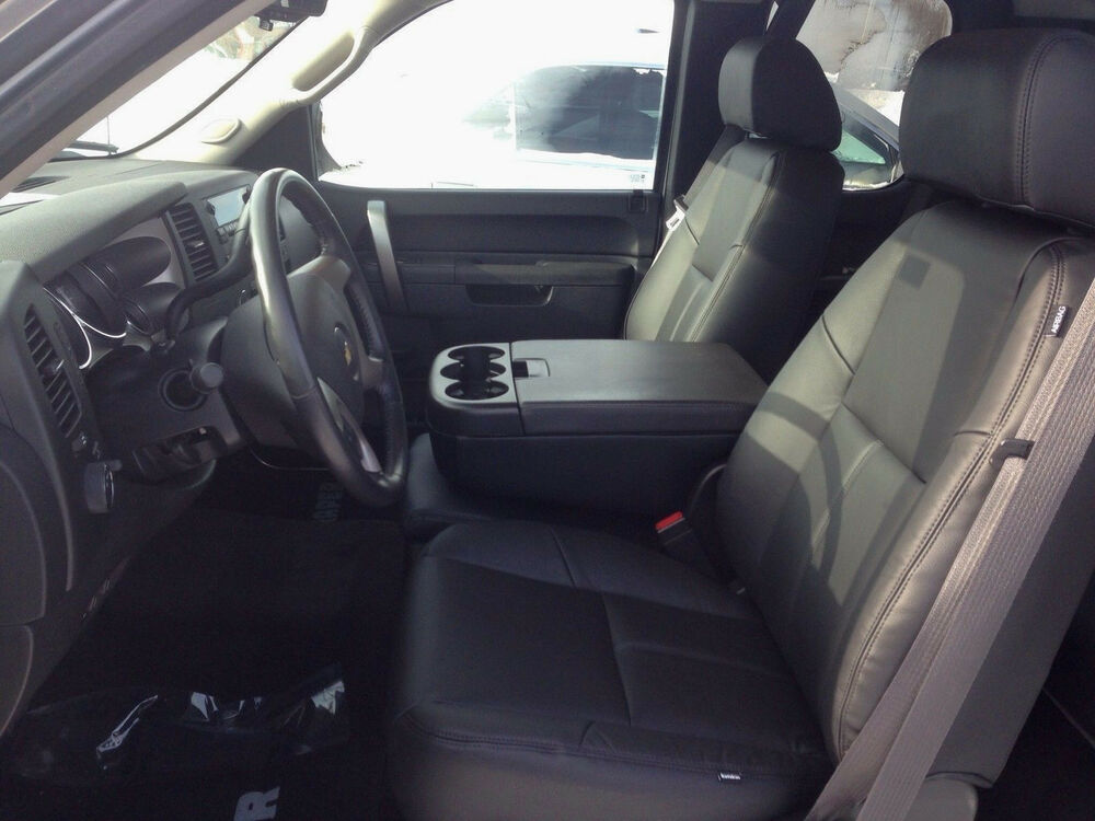 2010 2013 chevrolet silverado crew cab black katzkin leather interior seat cover ebay. Black Bedroom Furniture Sets. Home Design Ideas