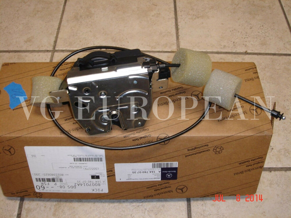 Mercedes benz gl r class genuine tailgate hatch lock for Mercedes benz r350 accessories