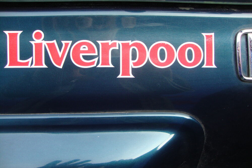 2 x liverpool 8 car window stickers bumpers motor bike helmet decals ebay. Black Bedroom Furniture Sets. Home Design Ideas