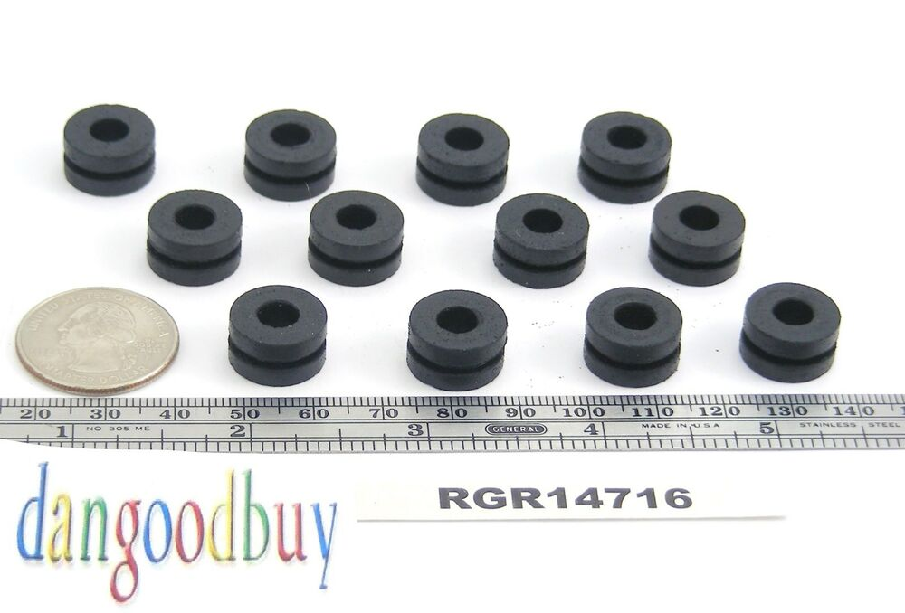 50 rubber grommets 1 4 inner diameter fits 7 16 panel