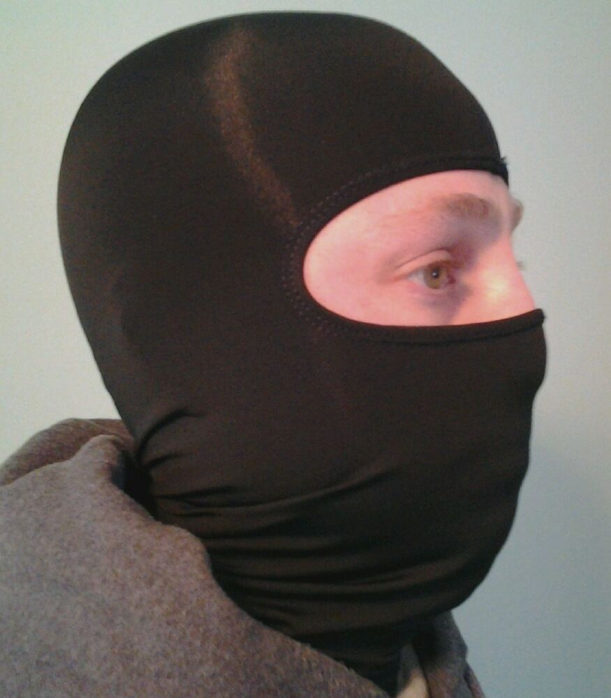 Face Mask: Black Polypropylene Thermal Balaclava Face Mask Hood By