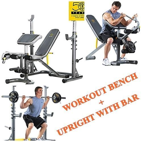 Gold S Weight Rack: Gold's Gym Olympic Bench Weight And Power Rack Home Gym