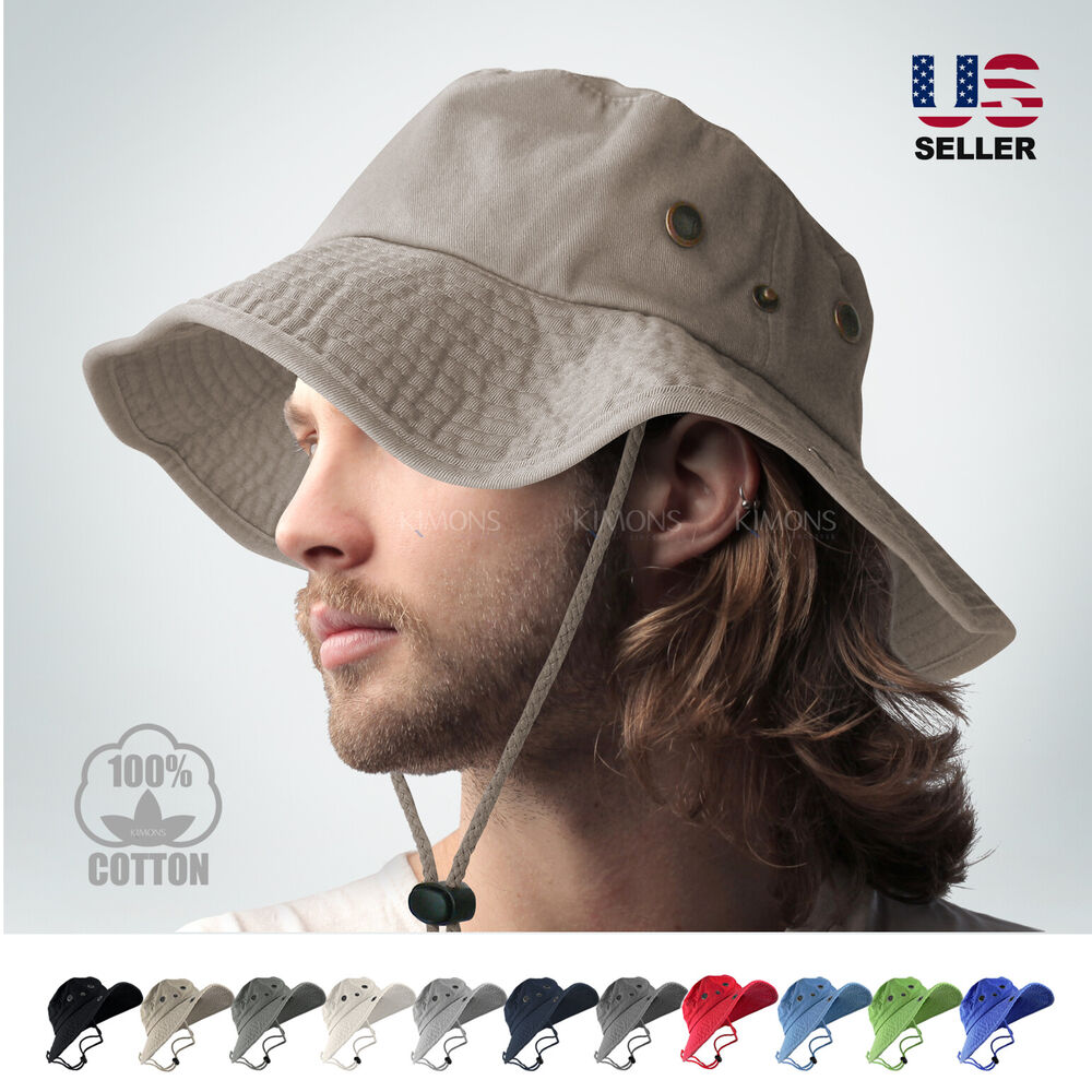 9c5d61f6f3423 Details about BOONIE BUCKET HAT MILITARY FISHING CAMPING HUNTING WIDE BRIM  BUCKET MEN OUTDOOR