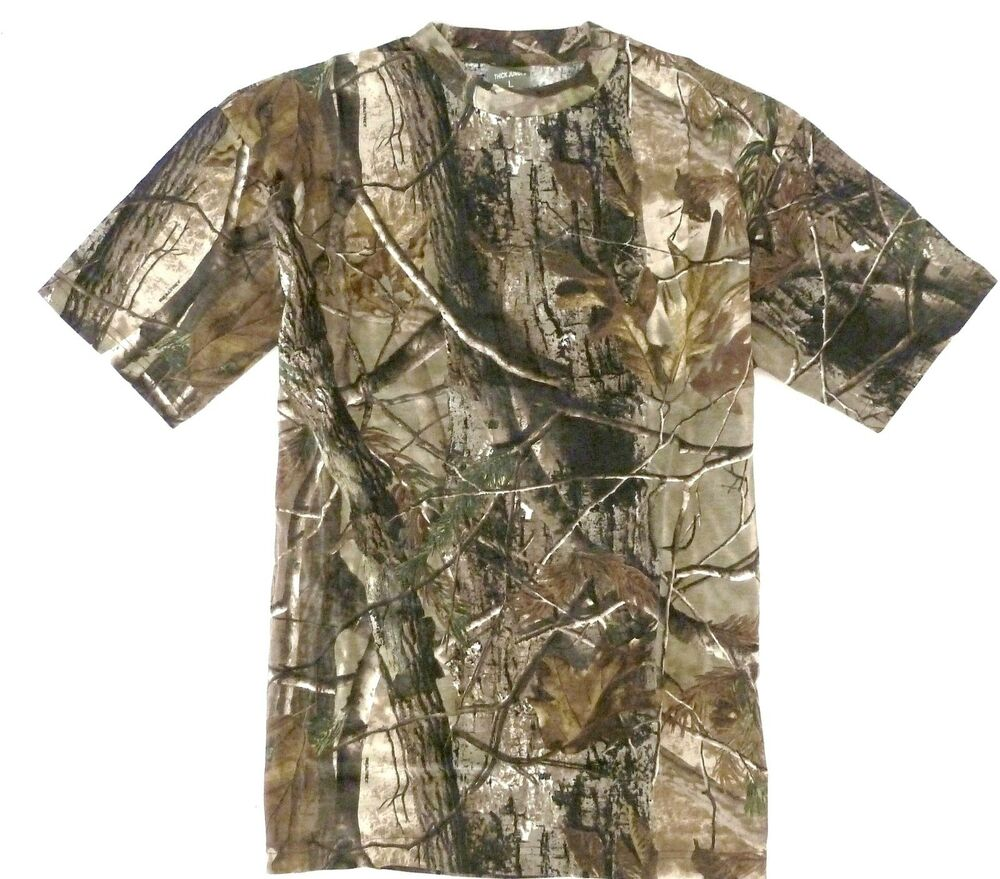 Gents oak tree camo hunting t shirt mens sizes fishing for Gildan camouflage t shirts