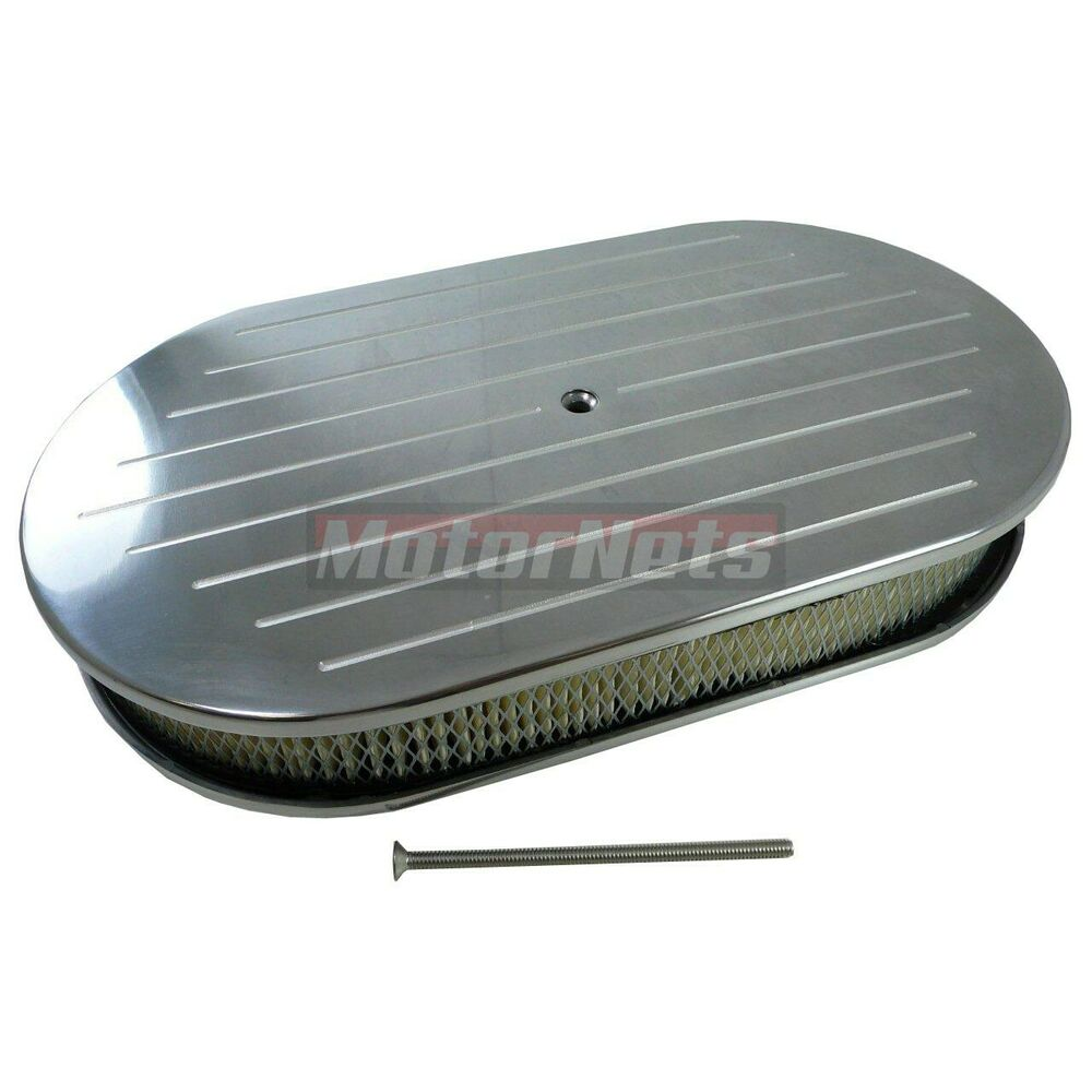 Oval Air Cleaner : Chevy ford chrysler quot oval polished aluminum air cleaner