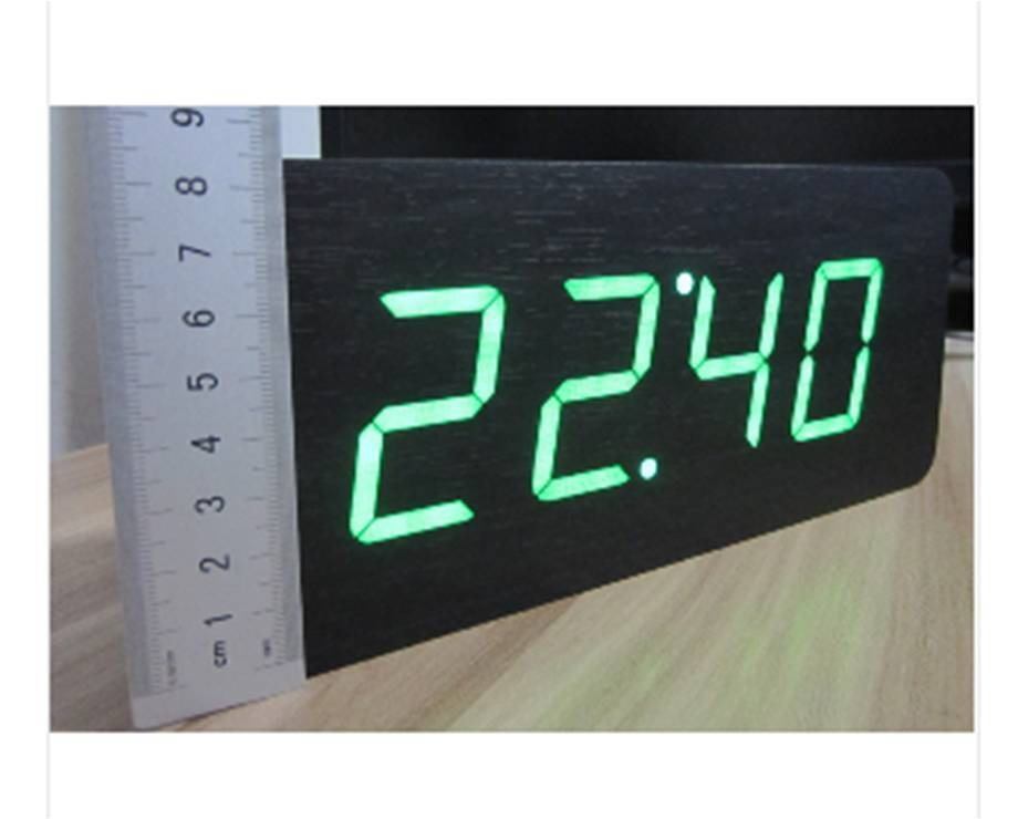 Table Clocks Wood Led Alarm Clock Large Number 5 Functions