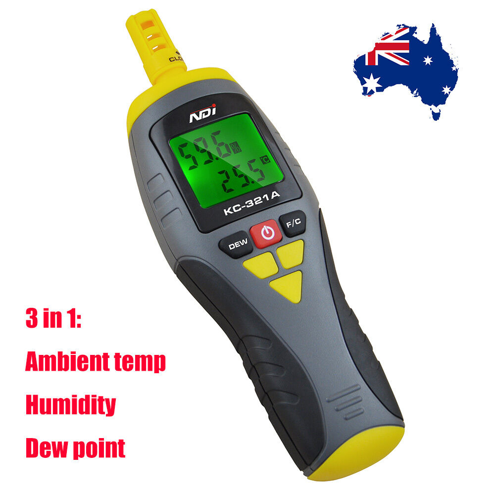 Temperature Humidity Meter : Ndi temperature humidity meter thermo hygrometer with dew