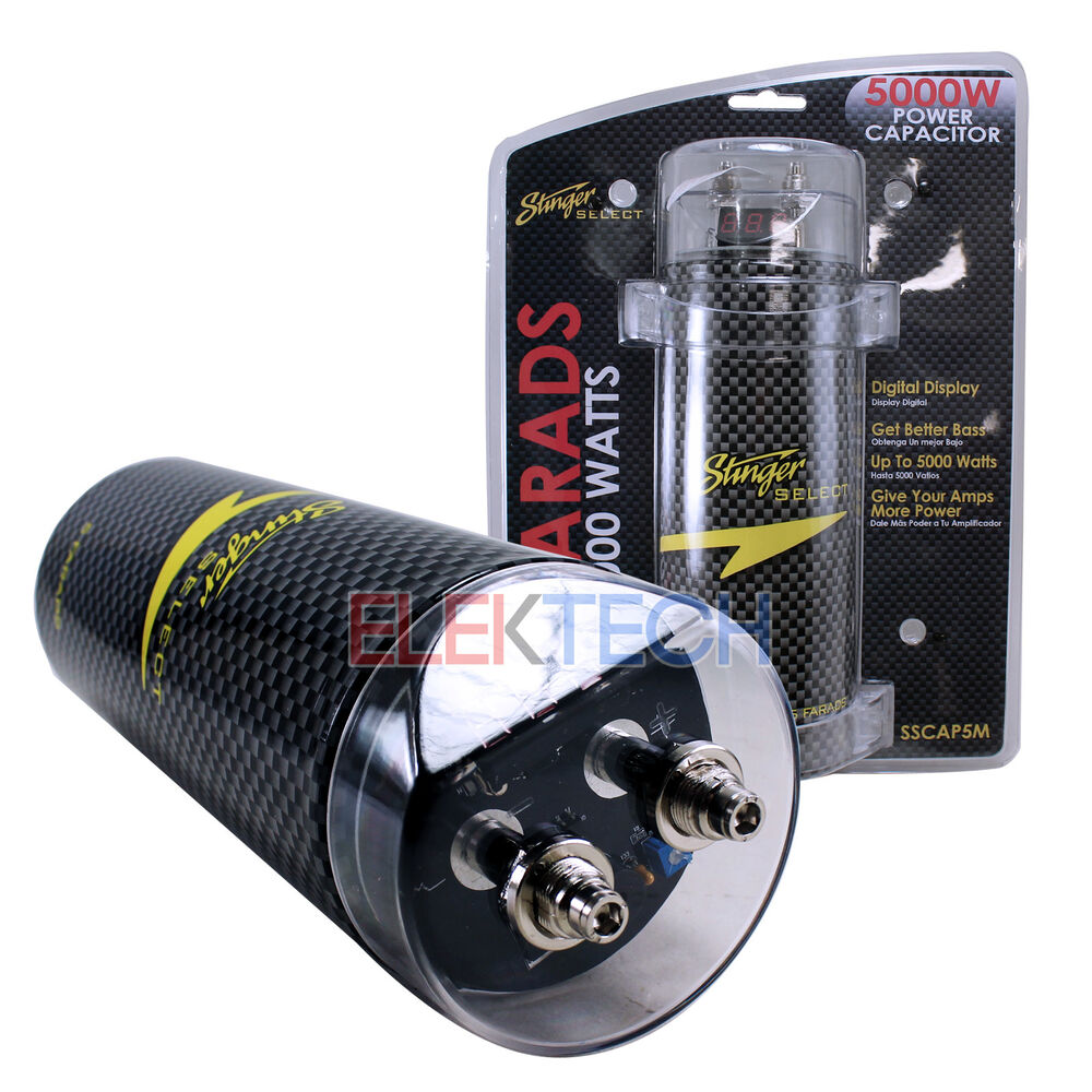 sound quest by stinger sqcap5m capacitor 5 farad 5000w