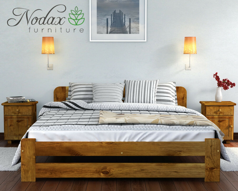 brand new solid pine 5ft king size bed frame slats wooden ebay. Black Bedroom Furniture Sets. Home Design Ideas