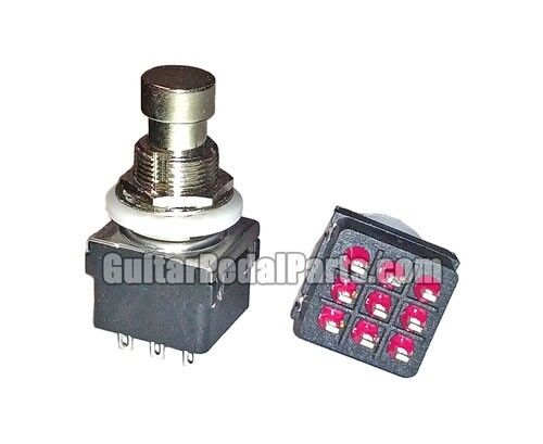 3pdt true bypass stomp foot switch for guitar pedals best quality ebay. Black Bedroom Furniture Sets. Home Design Ideas