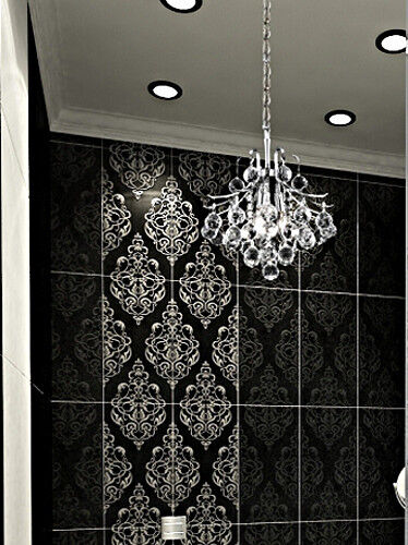 Toureg 3 light petite modern crystal mini chandelier - Small crystal chandelier for bathroom ...