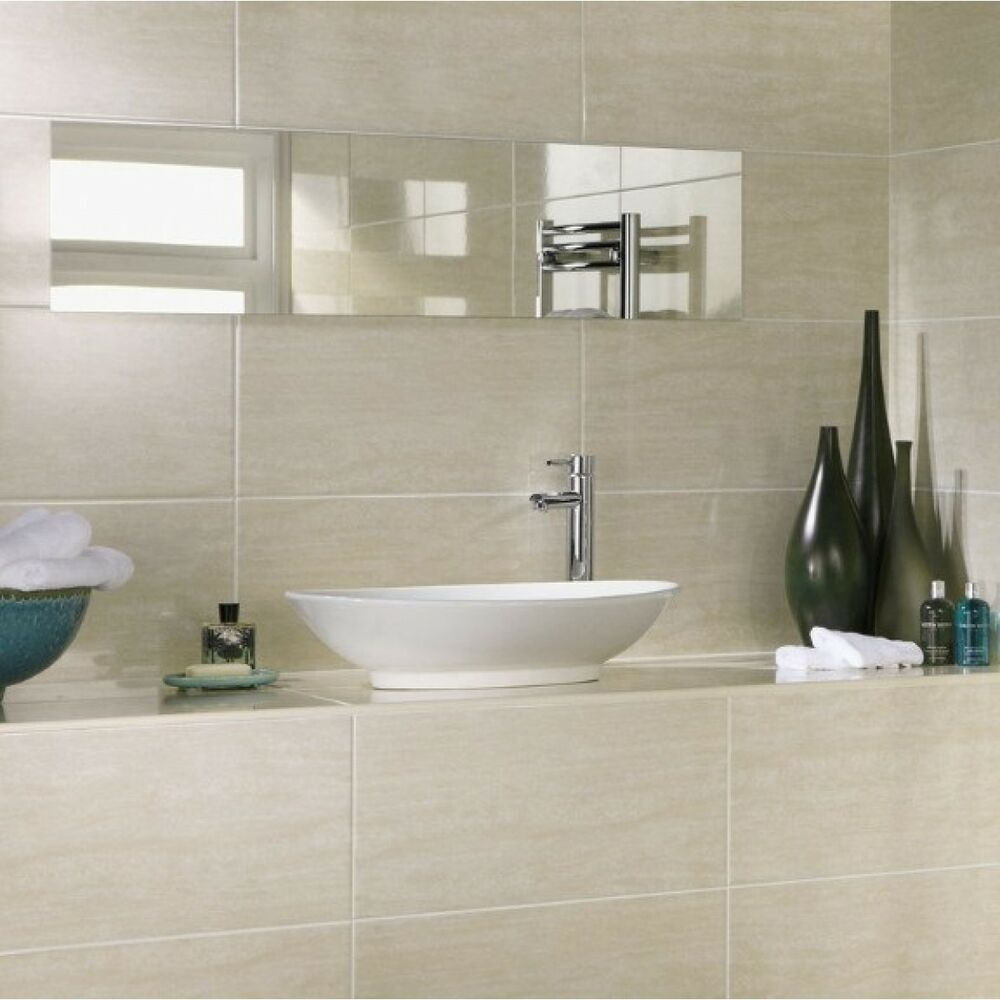 bathroom ceramic wall tile 10x10cm sample of 60x30 beige matt ceramic bathroom wall 15719