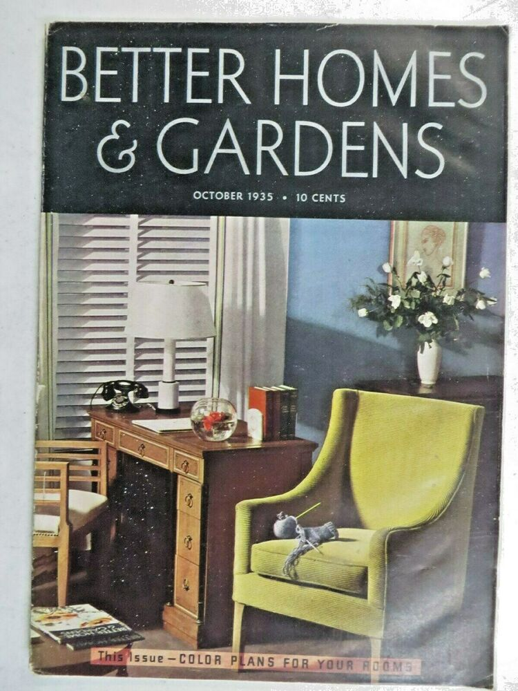 Better homes gardens magazine october 1935 mandel Bhg homes