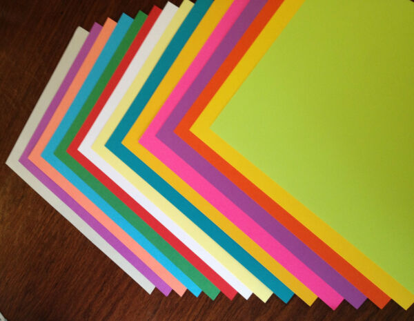 25 8.5 x 11 Color CardStock Choose Color - Great for Scrapbooking