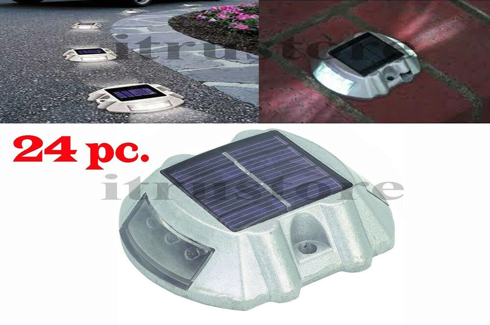 24 Pack Solar Led Pathway Driveway Lights Dock Path Step