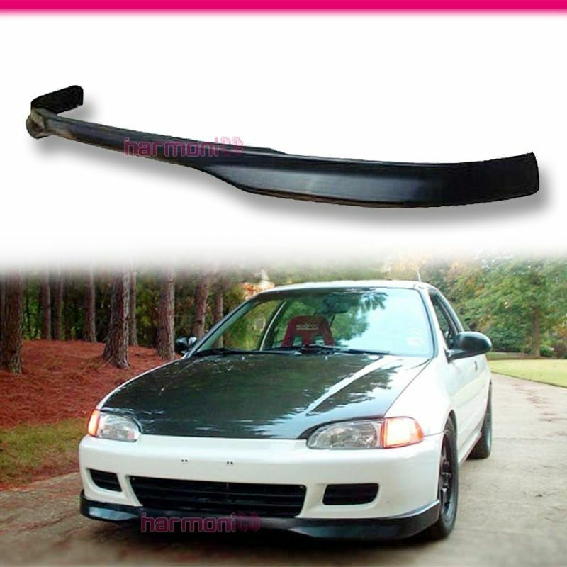 fits 92 95 honda civic eg hatch coupe tr front bumper lip spoiler 2 3 door pu ebay. Black Bedroom Furniture Sets. Home Design Ideas