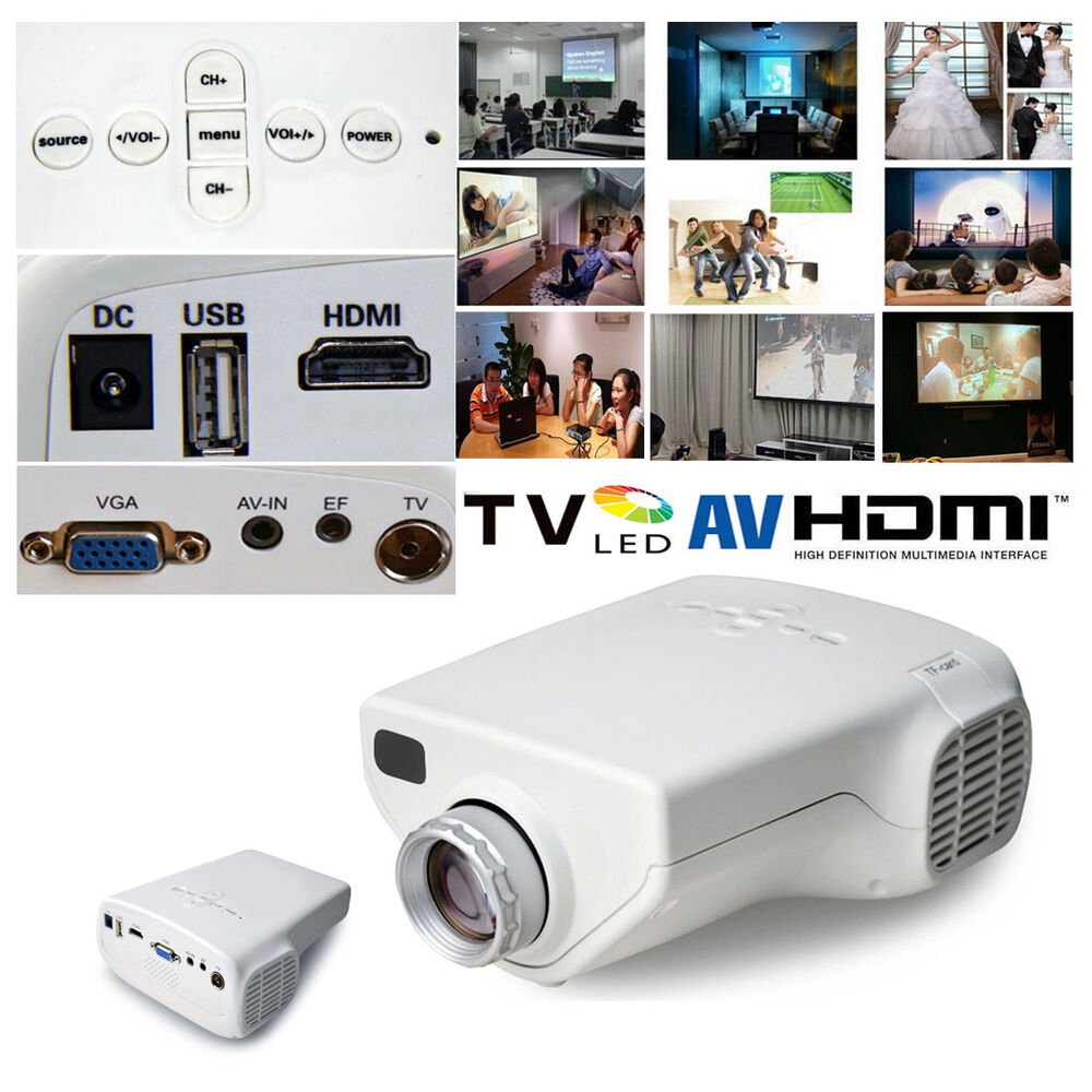 Led Lcd Projector X7 Home Cinema Theater Multimedia Led: Multimedia Mini 1080P HD LED Projector Home Cinema Video