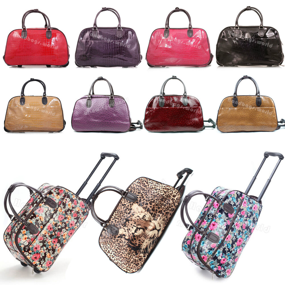 Ladies 19 Quot 21 Quot Hand Luggage With Wheels Weekend Travel