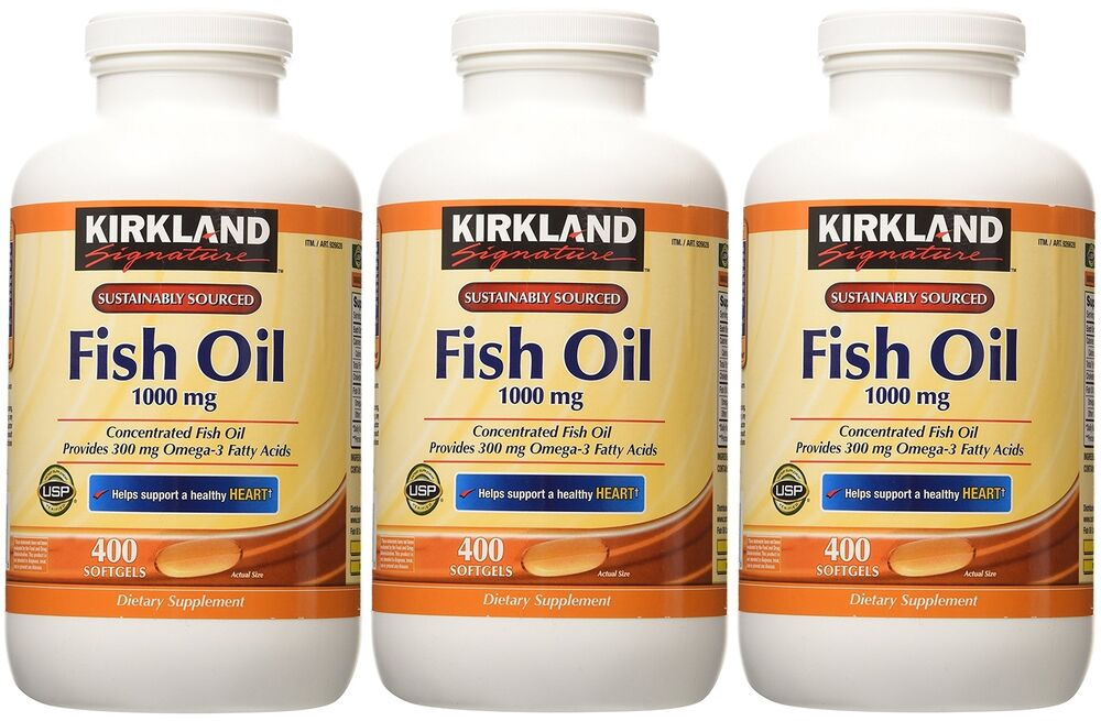Kirkland signature omega 3 fish oil concentrate 1000 mg for Omega fish oil advanced support