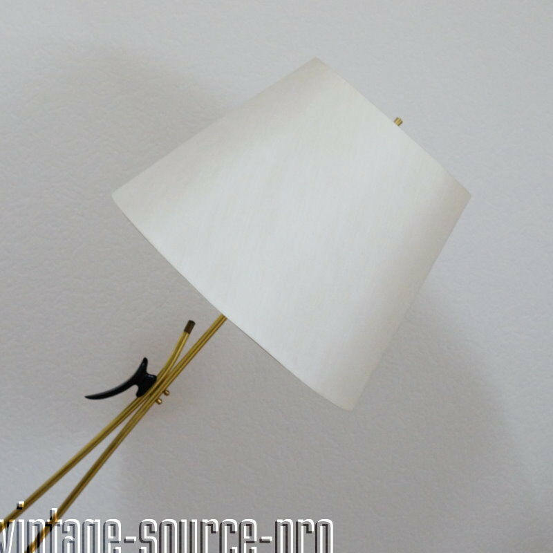 Chicce Alte Vintage XXL Messing Stehlampe Bodenlampe