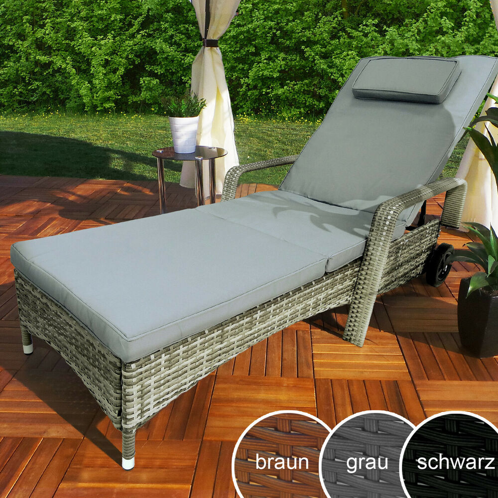 polyrattan gartenliege rattan sonnenliege garten liege. Black Bedroom Furniture Sets. Home Design Ideas