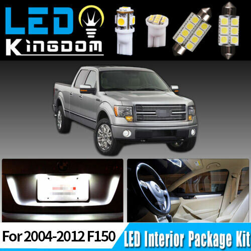13 Pcs Xenon White Smd Led Lights Interior Package Kit For 2004 2012 Ford F150 Ebay