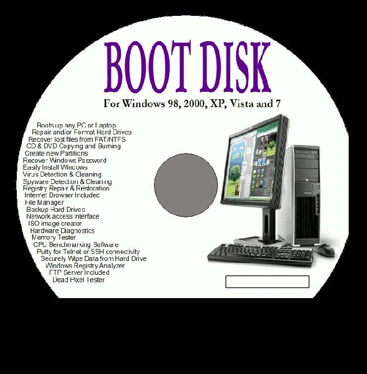 Create a bootable CD emergency repair disc for XP