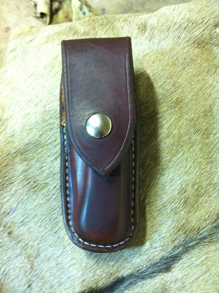 Custom Leather Sheath For The 110 Buck Knife Saddle ...