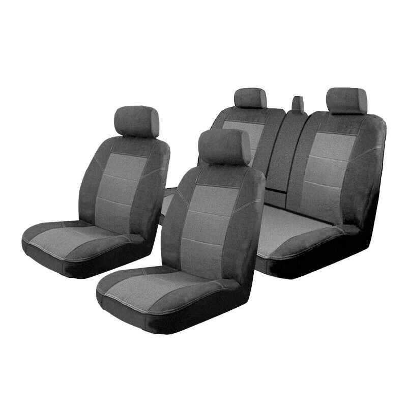 custom made car seat covers toyota rav4 01 2006 01 2013 airbag deploy safe ebay. Black Bedroom Furniture Sets. Home Design Ideas
