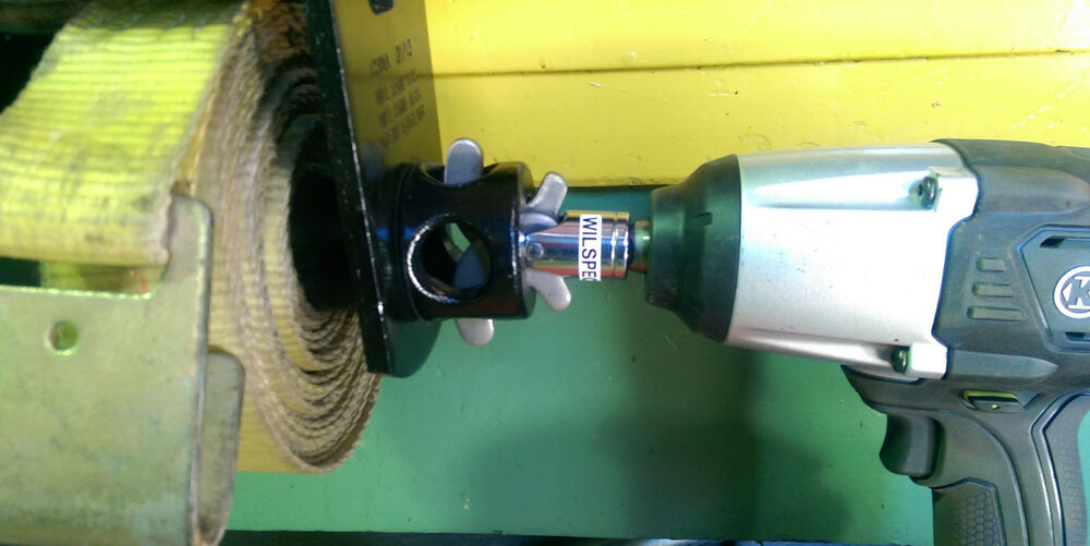 Drill Or Impact Driven Strap Winder Winding Tool For