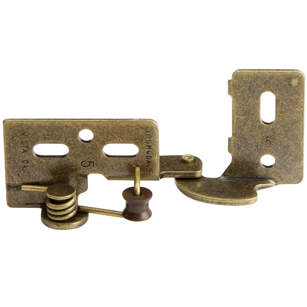Hard To Find Cabinet Hinges : Snap closing semi concealed hinges antique brass pair