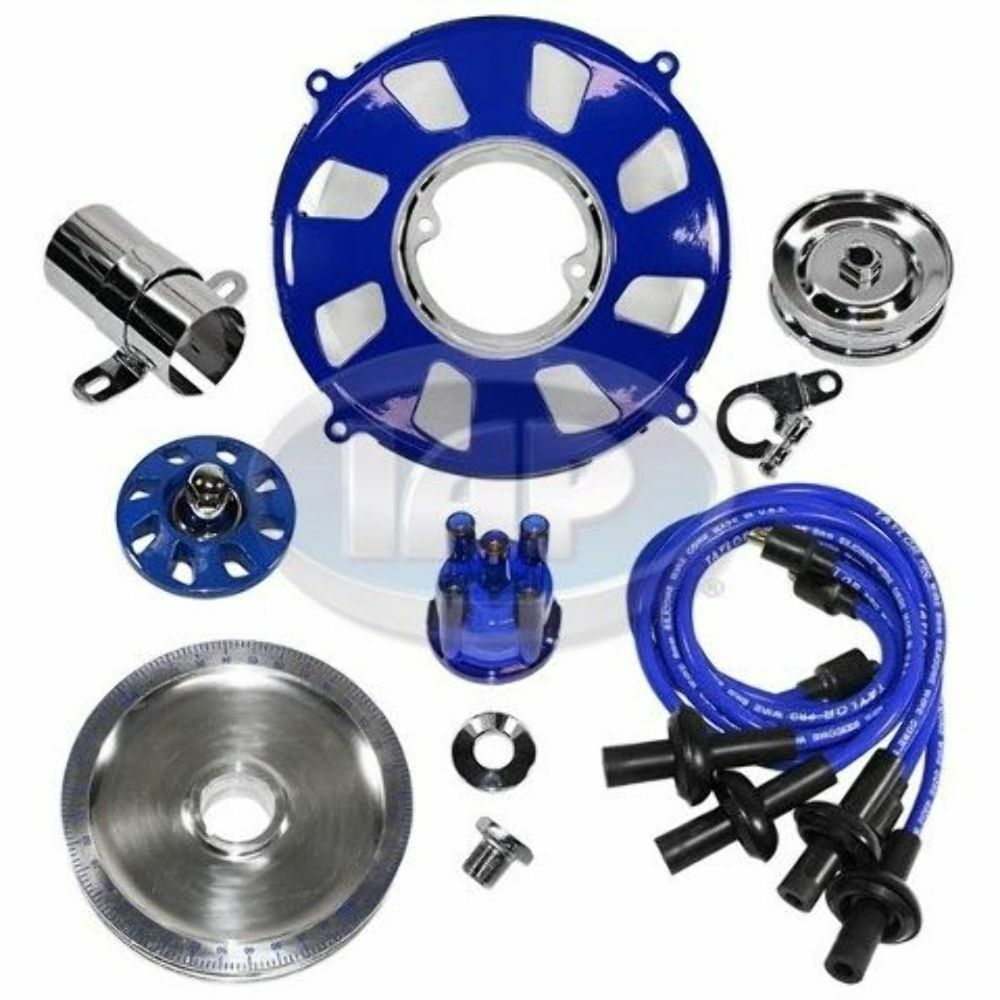 Electric Motor Kit For Volkswagen Beetle: Engine Super Show Kit/ Dress Up Kit BLUE W/Pulley VW Bug