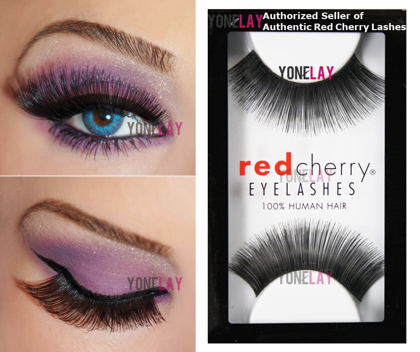 Lot 6 Pairs Genuine Red Cherry 100 Cali Human Hair False Eyelashes