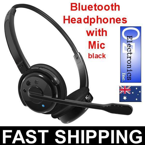 NEW Wireless PS3 Bluetooth Stereo Headset Mic Playstation 3 Skype Black Truck