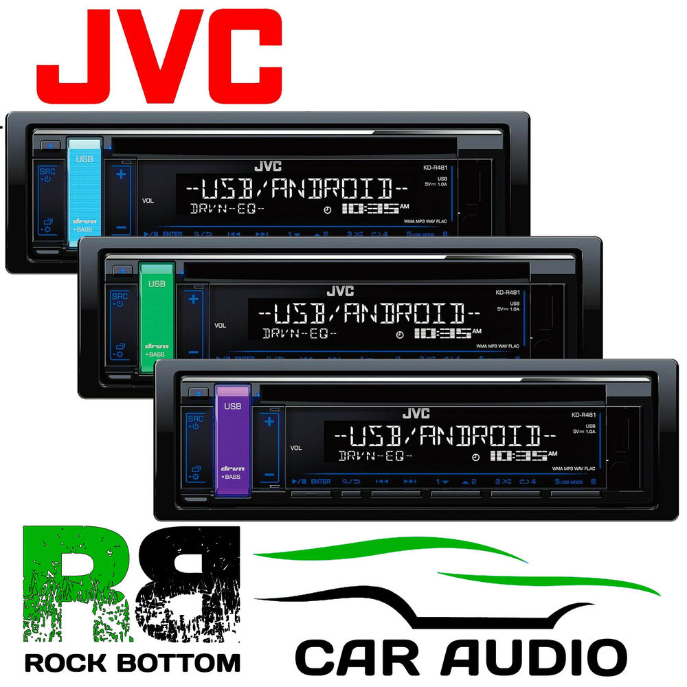 jvc kd r561 car stereo radio cd mp3 usb aux rds rca iphone. Black Bedroom Furniture Sets. Home Design Ideas