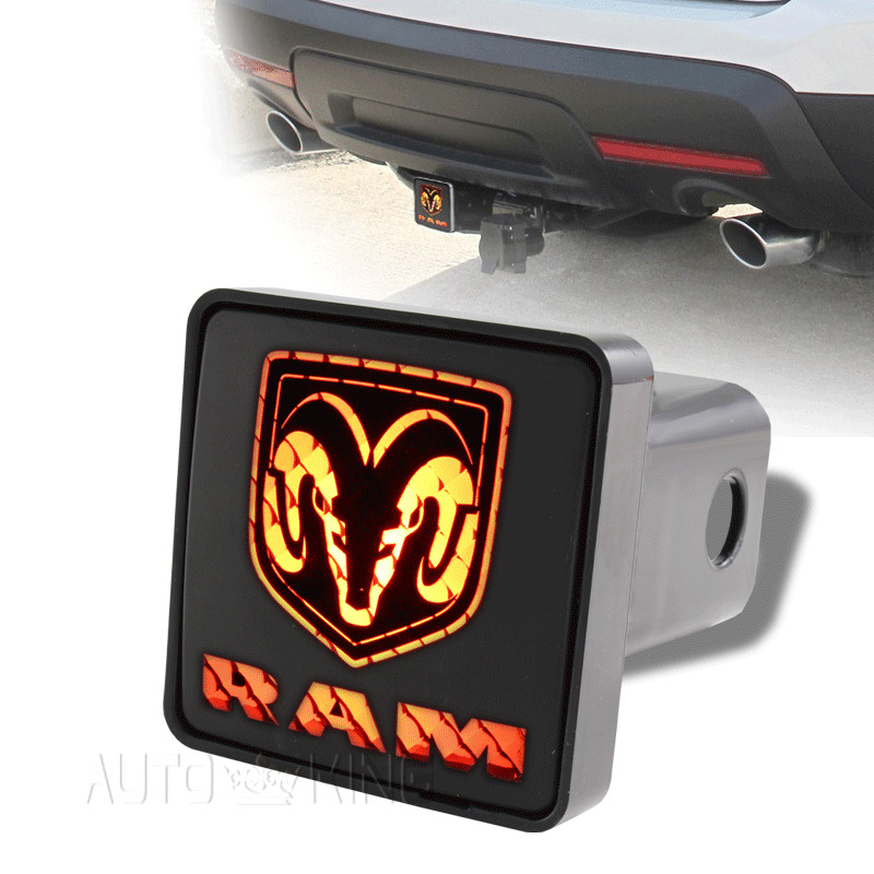 Dodge Ram Trailer Tow Hitch Cover Brake Light For 2 Receiver 2 Prong Connector Ebay