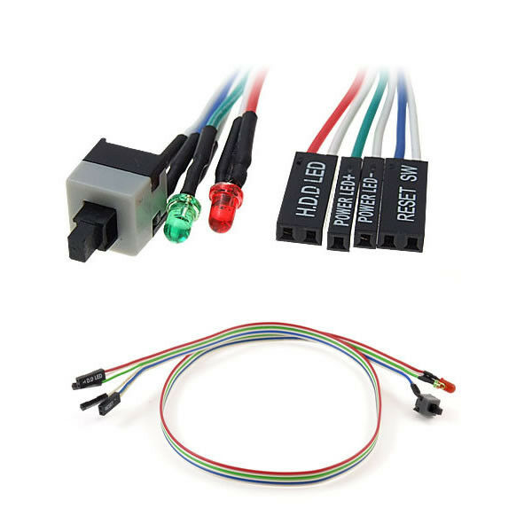 new pc atx power supply reset switch cable led lights ebay Reset MacBook Pro Power Power On Password Reset