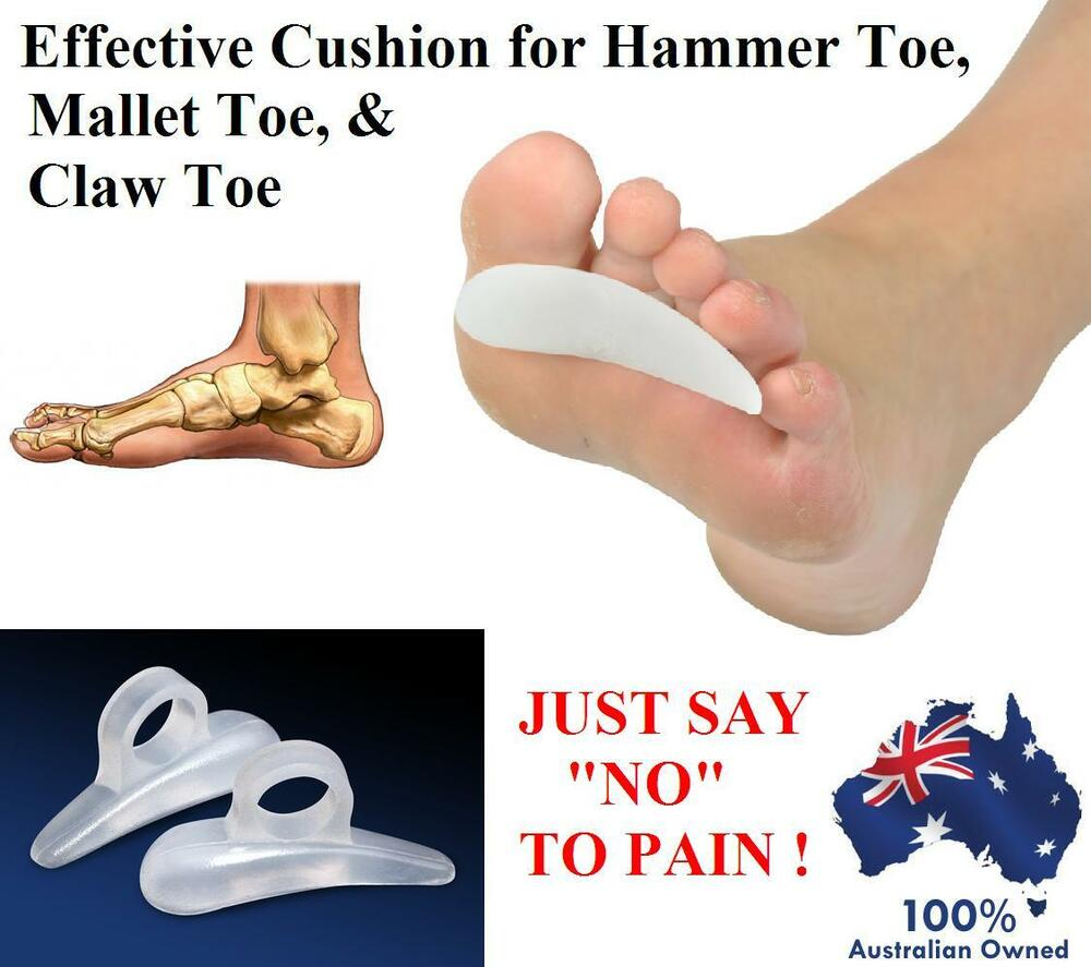 SILICONE GEL CUSHION PAD CLAW HAMMER MALLET TOE BUNION ...