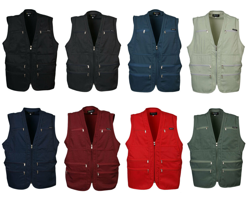 herren 9 tasche reise safari waistcoat jagd angeln arbeit weste foto jacke ebay. Black Bedroom Furniture Sets. Home Design Ideas