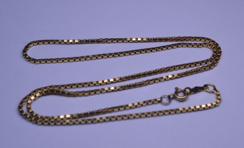 Vintage Gold Filled 18 Inch Box Chain Necklace Ebay