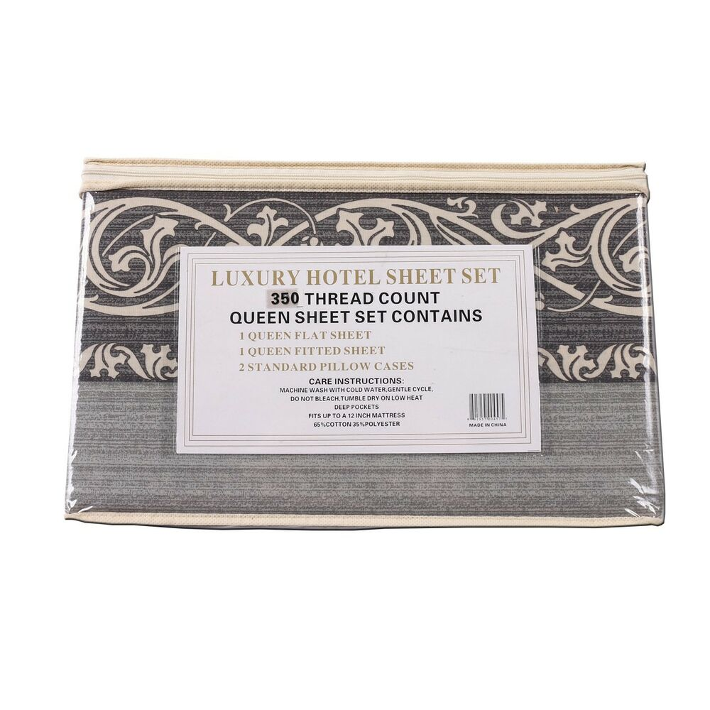 Luxury hotel sheet set 350 thread count queen king bed set for Luxury hotel 750 collection sheets