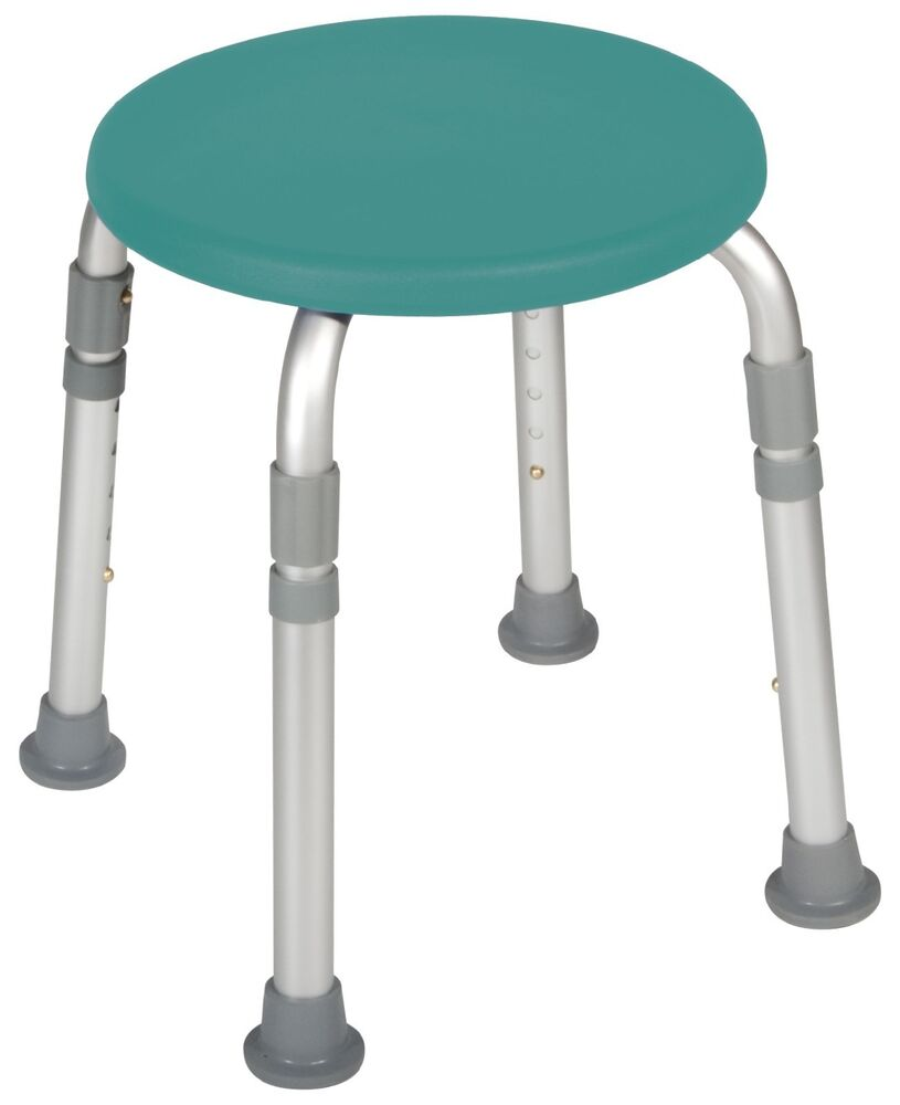 Round Stool Bath Bench Adjustable Height Tub Shower Seat Bench Stool Teal Green Ebay