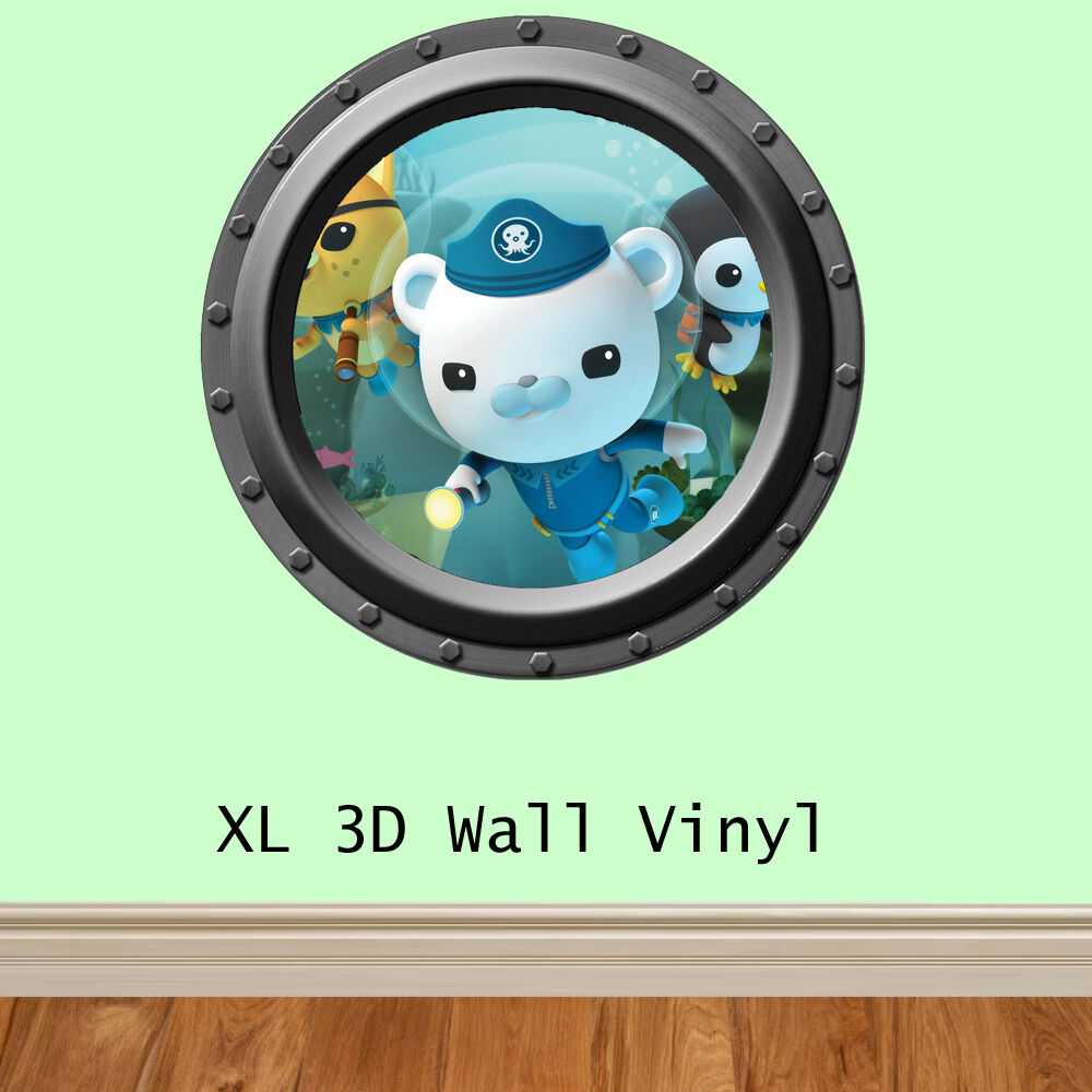 childrens 3d octonauts feature wall wall art wall sticker octonauts kid s room mural eclectic kids other metro