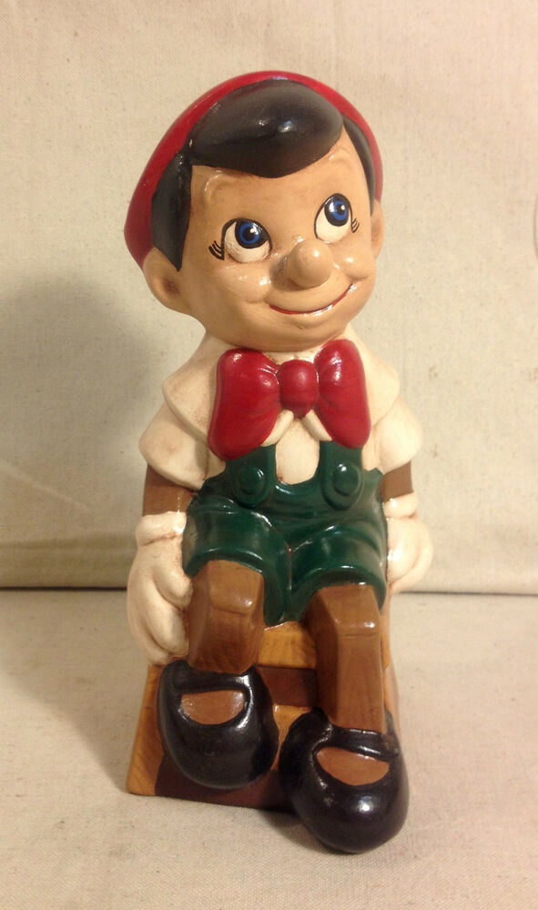 Vintage Ceramic Pinocchio Figure Walt Disney Productions