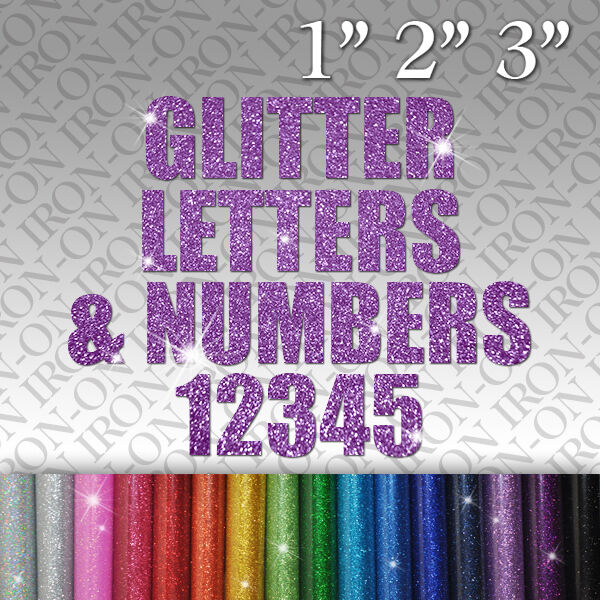 glitter iron on letters custom glitter letters amp numbers iron on fabric t shirt 21955