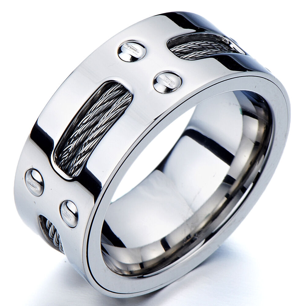 Stainless Steel Eternity Band Rings
