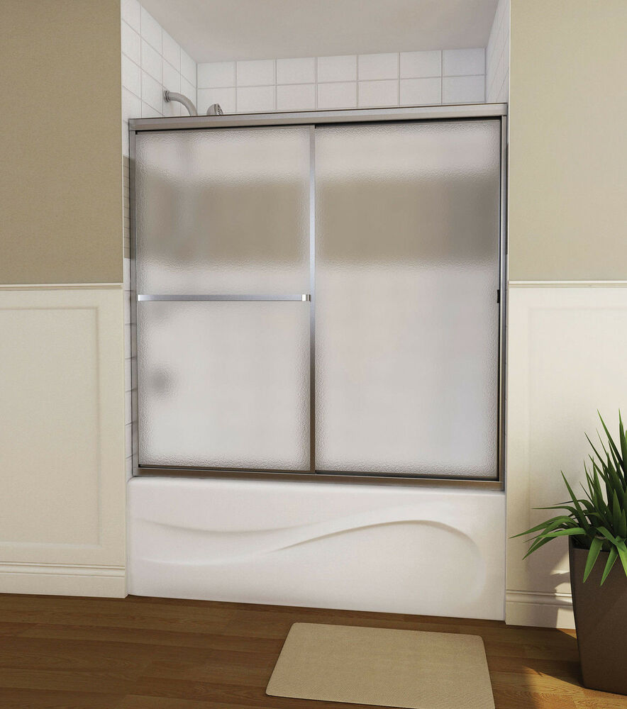 Maax 60 Quot Mika 3 16 Quot Two Panel Framed Glass Sliding Shower